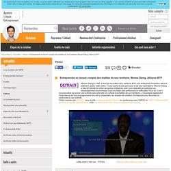 Entreprendre en tenant compte des réalités de son territoire, Momar Dieng, Alliance BTP - AFE, Agence France Entrepreneur