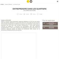 Entreprendre dans les quartiers