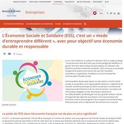 L'Économie Sociale et Solidaire (ESS), c'est un «mode d'entreprendredifférent», avec pour objectif une économie durable et responsable