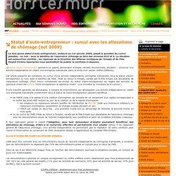 AE et cumul allocations chômage