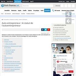 Auto-entrepreneur : statut et mode d'emploi - Droit-Finances