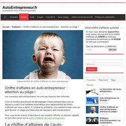 Chiffre d'affaires en auto-entrepreneur : attention au piège ! - AutoEntrepreneur.fr