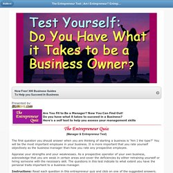 Am I Entrepreneur? What Business Should I Start Quiz