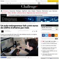 Un auto-entrepreneur fait 1.000 euros de chiffre d'affaires par mois - 1 février 2012