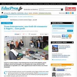 Team Entrepreneur, une école de commerce à Angers… sans profs