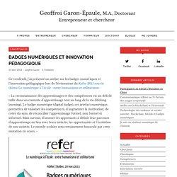 Badges numériques et innovation pédagogique