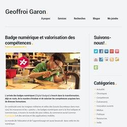 Geoffroi Garon. Entrepreneur @pygnum Valoriser le capital humain – Badges numériques #Openbadges