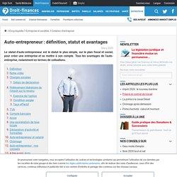 Auto-entrepreneur : définition, statut et avantages - Droit-Finances