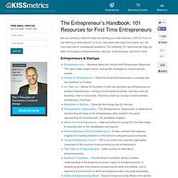The Entrepreneur's Handbook: 101 Resources for First Time Entrepreneurs