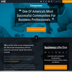 The Young Entrepreneur Council (Y.E.C.) | The World's First Helpdesk For Young Entrepreneurs