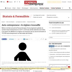 Auto-entrepreneur : le régime s'essouffle selon le bilan de l'Acoss