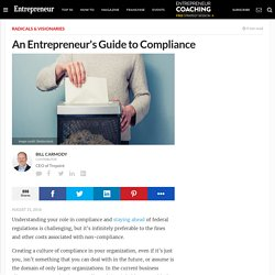 An Entrepreneur's Guide to Compliance