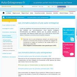 Kbis Auto Entrepreneur, RCS, RM, immatriculation