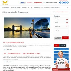 Business Entrepreneur Immigration UK
