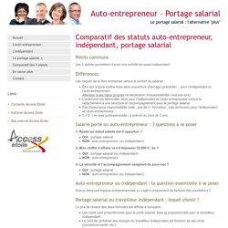 Comparatif des statuts auto-entrepreneur, indépendant, portage salarial