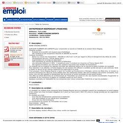 Offre emploi - Entrepreneur Indépendant (Franchise) France Entière - Lemoniteur-Emploi.com
