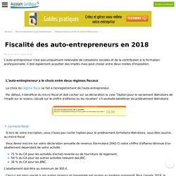 La fiscalité de l'auto-entrepreneur en 2016 : micro-fiscal ou versement libératoire ? - Aide juridique auto-entrepreneur en ligne gratuite