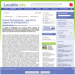 France Entrepreneur : que dit le rapport de préfiguration ?