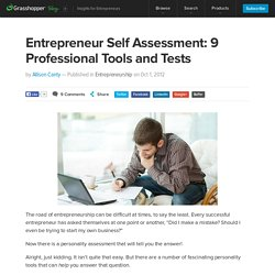 Entrepreneur Self Assessment: 9 Professional Tools and Tests