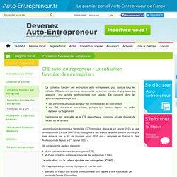 CFE Auto Entrepreneur : Taxe professionnelle