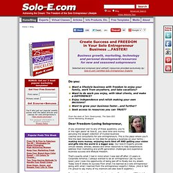 Business Building Resources for the Solo Entrepreneur