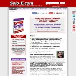 Solo Entrepreneur Blog | Business Building Resources for the Solo Entrepreneur