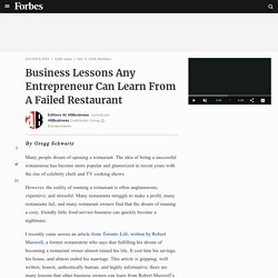 Business Lessons Any Entrepreneur Can Learn From A Failed Restaurant