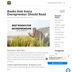 Books that Every Entrepreneur Should Read - Invincible Lion