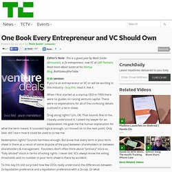 One Book Every Entrepreneur and VC Should Own