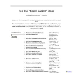 "entrepreneurcommons - Top 150 ""Social Capital"" Blogs"