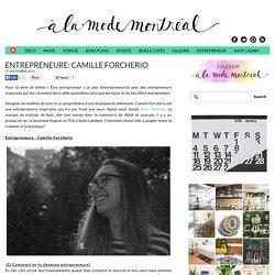 Entrepreneure: Camille Forcherio - À la mode Montréal