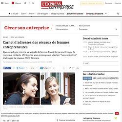 Carnet d'adresses des réseaux de femmes entrepreneures