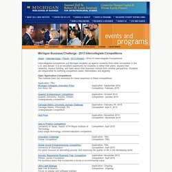 Zell Lurie Institute for Entrepreneurial Studies - External Business Plan Competitions