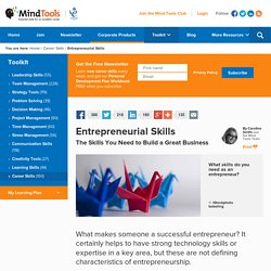 Entrepreneurial Skills - Career Development from MindTool