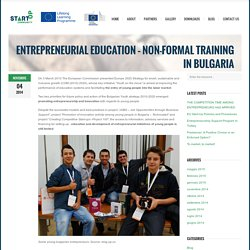 Entrepreneurial education – Non-formal training in Bulgaria