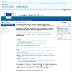 Entrepreneuriat social - Commission européenne