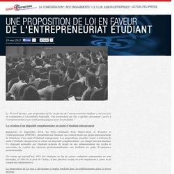 Une proposition de loi en faveur de l'entrepreneuriat étudiant