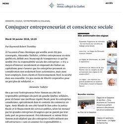 Conjuguer entrepreneuriat et conscience sociale