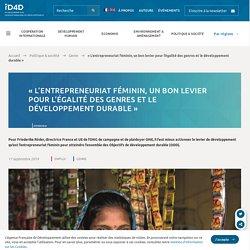 « L'entrepreneuriat féminin, égalité des genres et développement durable »