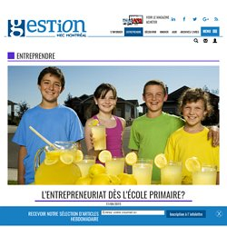 L'entrepreneuriat dès l'école primaire?