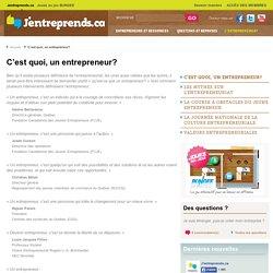 Définitions de l'Entrepreneuriat