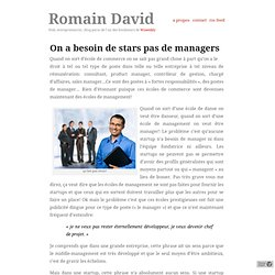 On a besoin de stars pas de managers