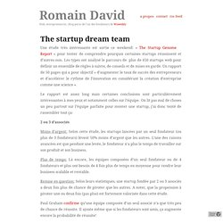The startup dream team