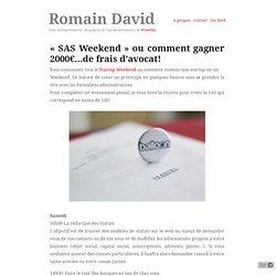 «SAS Weekend» ou comment gagner 2000€…de frais d'avocat!