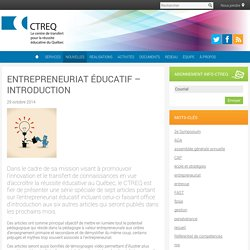 Entrepreneuriat éducatif - introduction
