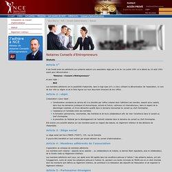 NCE - Notaire Conseil de l'EntrepreneurNCE>Conseil d'administration>Statuts