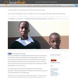 Young Entrepreneurs: Sakhiwe Shongwe & Bonkhe Mahlalela