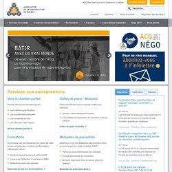 Association de la constructin du QUEBEC : ACQ Bas-St-Laurent : Services aux entrepreneurs en construction