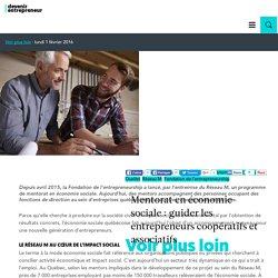 Mentorat en économie sociale : guider les entrepreneurs coopératifs et associatifs