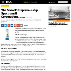 Social Entrepreneurs 2011: What It Means to Be a B Corporation